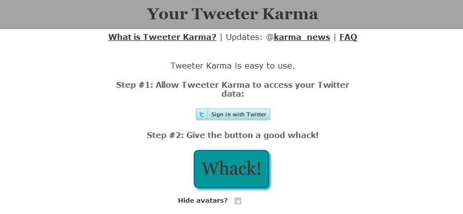 Twitter Karma-twitter unfollow tool