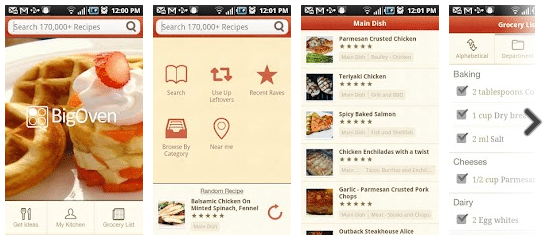 250,000+ Recipes BigOven for Android