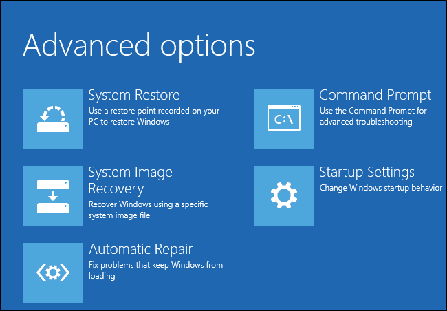 Advanced Option windows 8