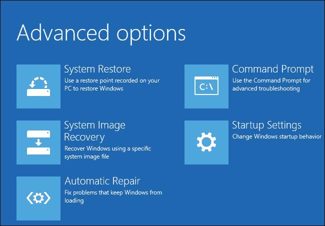 Advanced Option windows 8