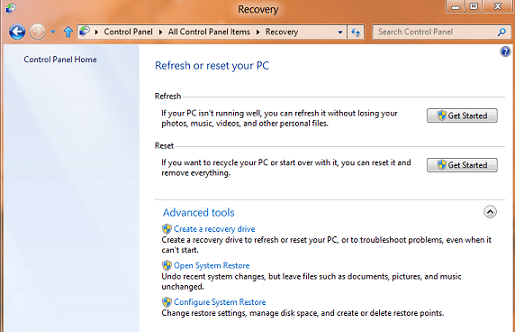 how to restore windows 8
